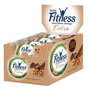 Fitness Delice Csoki-Mogyoró szelet kínáló karton 22,5gx16db